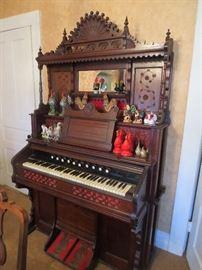 Wonderful Working Victorian Walnut Pump Organ