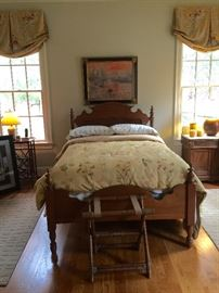 Antique Walnut Bed
