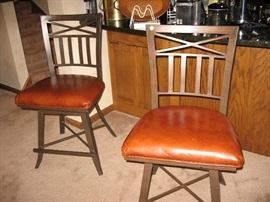 Pair of solid bar stools