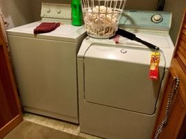 Older Maytsg washer and dryer, working great. We've been using them!