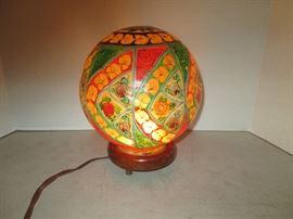 Vintage Camel Bladder Lamp