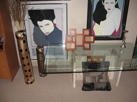 Living Room  Patrick Nagel Pictures & Posters, Glass Coffee table