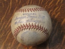 1934-1939 William Harridge Reach OAL Baseball