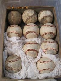 Ten Total, 4 with legible stamps, 1934-1939 William Harridge Reach OAL Baseball