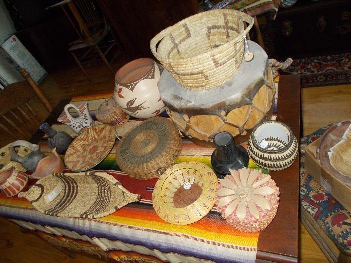 drum sold ,conoe  basket is sold