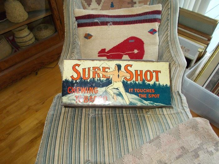 Sure Shot Large tobacco tin $360.00