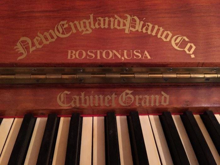Cabinet Grand Piano / New England Piano Co.