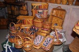 Longaberger baskets including Inauguration baskets.