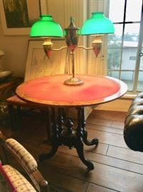 19th Century Turned Table Base with Added Top