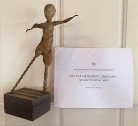 """Robert Cremean.  b. 1932.  """"Christopher Whithy"""".  Wax & Metal Maquette.  11""""h."""