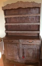 Country French Hutch....Carved, Display and Cupboard Areas