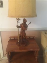 Wooden Golf lamp, vintage 1956