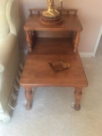 1956 Cal Shops Furn Co Maple step end table