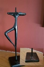 Ballerina Art by Bodrul Khalique signed, Mid Century Modern,Vintage,Black Metal Sculpture,Retro,Art, Designed in the 1960s by Swedish artist Bodrul Khalique