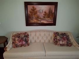 This 1940/50's style sofa is in Impeccable condition