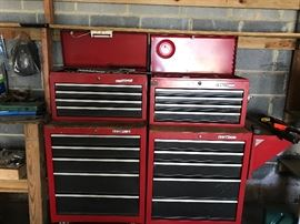 Two Craftsman tool chests - 9 drawers, large rolling wheels