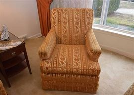 BUY IT NOW!  Lot #301, Vintage Armchair (Gold/Rust Velveteen Upholstery), $85