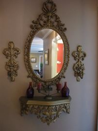 Mid Century mirror and accessories