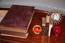 Antique Books and Paper Weights