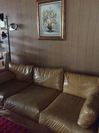 Three cushioned companion to the extra long sofa