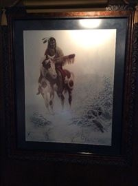 Snow bird print  Limited Edition 179/750 sign by Chuck DeHaan