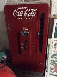 Vintage Vendo Coca Cola in bottles 5 cent. Still works.