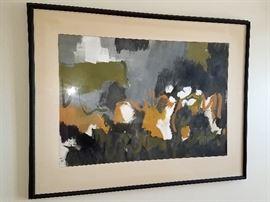 Framed original modern art