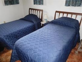 Pair of Mid-Century twin beds