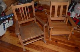 Vintage Wooden Children's Chairs
