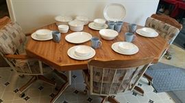 Golden Girls Kitchenette Table w/ Corelle Dishes