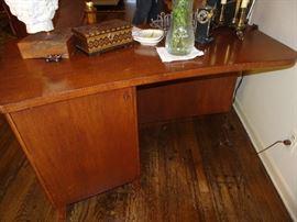 Back of Mid Century Desk