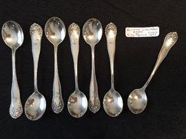 Gorham Sterling Egg Spoons circa 1897, Rare