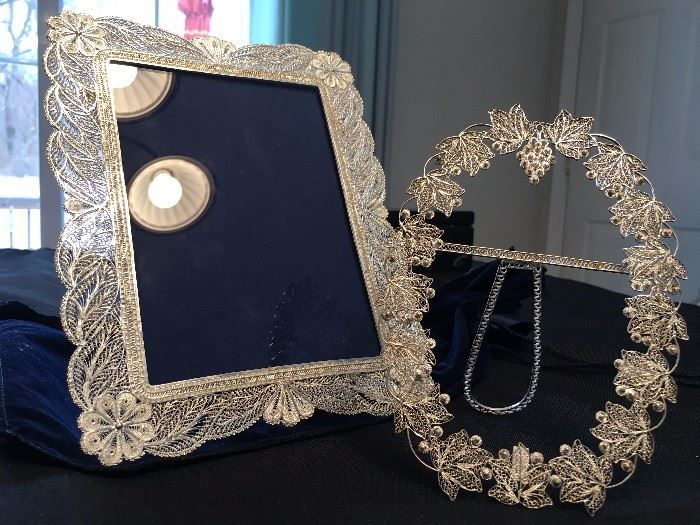 Hand Spun Sterling Picture Frames