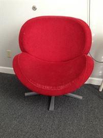 Modern plush chair,