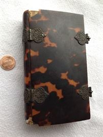 1818 Dutch Hymnal and Catechism printed in Haarlem, Holland, tortoise shell cover with silver clasps and buckles