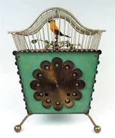 """Unusual """"Singing Bird & Clock"""""""