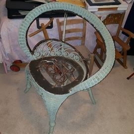 Unusual Shaped Wicker Chair