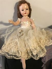 ALL ORIGINAL MADAME ALEXANDER DOLL (SHE PARTIED T00 HARD AND TOOK HER SHOES OFF: I PUT THE SHOES IN A SAFE PLACE)