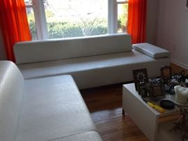 Moroso  Leather Sofa designed by Patricia Urquida - Two piece sectional