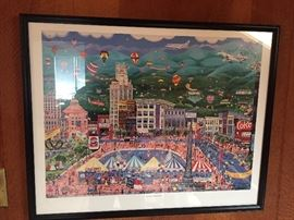 Water color picture of Asheville, NC