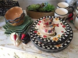 Themed Dishes and Salt and Pepper shakers