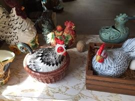 Rooster and Chicken Collectibles