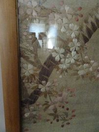 Magnificent Antique Embroidered Asian Tapestry