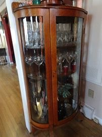 Bow Front China/Curio Cabinet