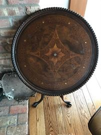 Tilt Top Table With MOP Inlay
