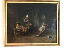 A Dutch Interior by Bernard De Hoog