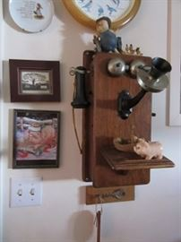 Oak wall phone is the early way people talked on phone.