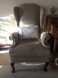 Toms Price beige wingback chair