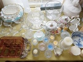 Crystal, glassware and fine china