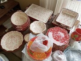 Gorgeous red dinnerware and bakeware